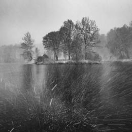 Метель на пруду в Середниково осенью / Метель на пруду в Середниково осенью