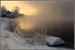 В морозном тумане / Додоново, р.Енисей