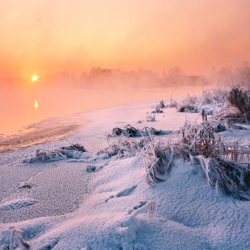 Морозное утро на Вилии